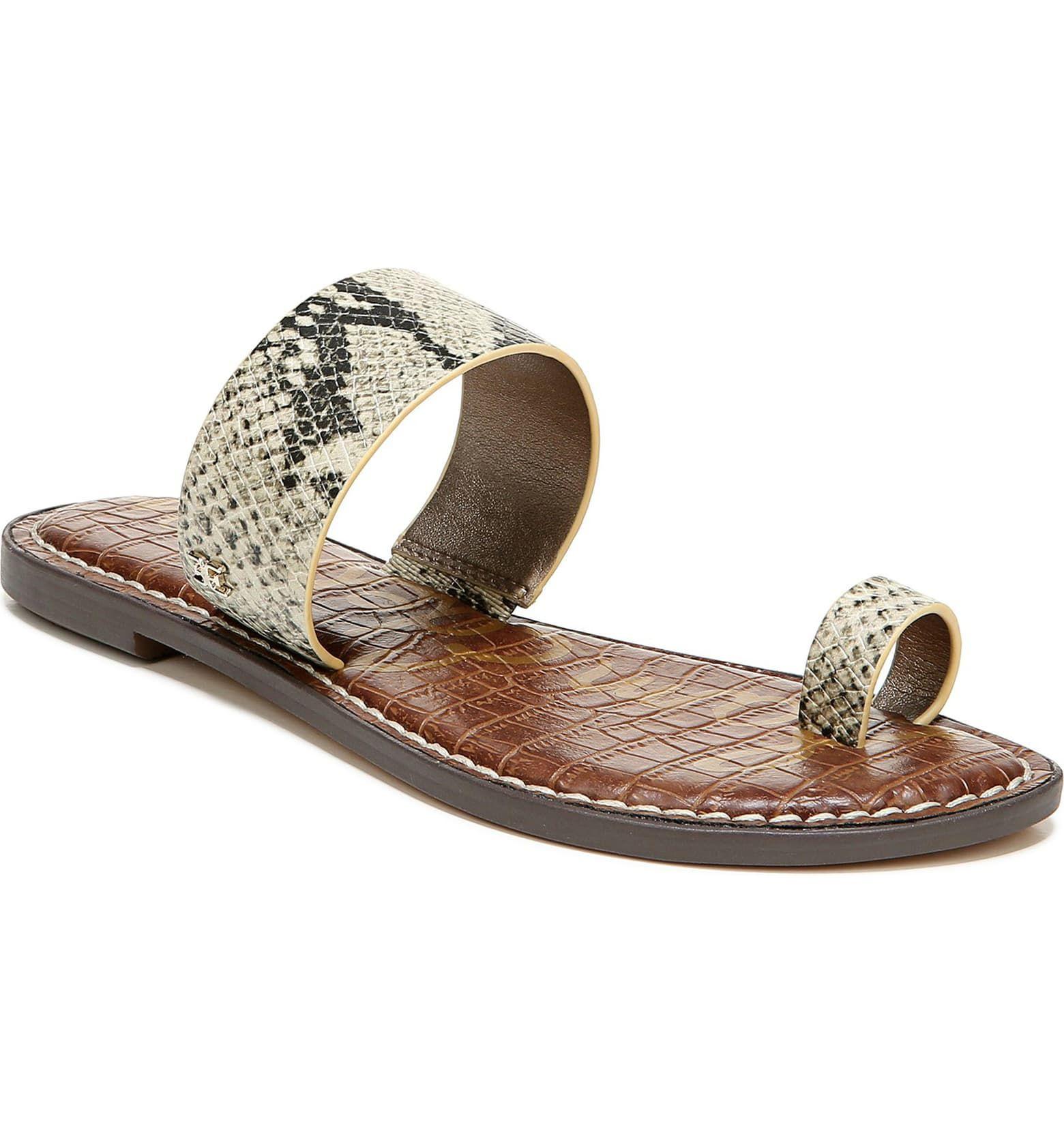 Sam Edelman Gorgene Flat Sandal Women Nordstrom In 2020 Womens Sandals Sandals Sam Edelman