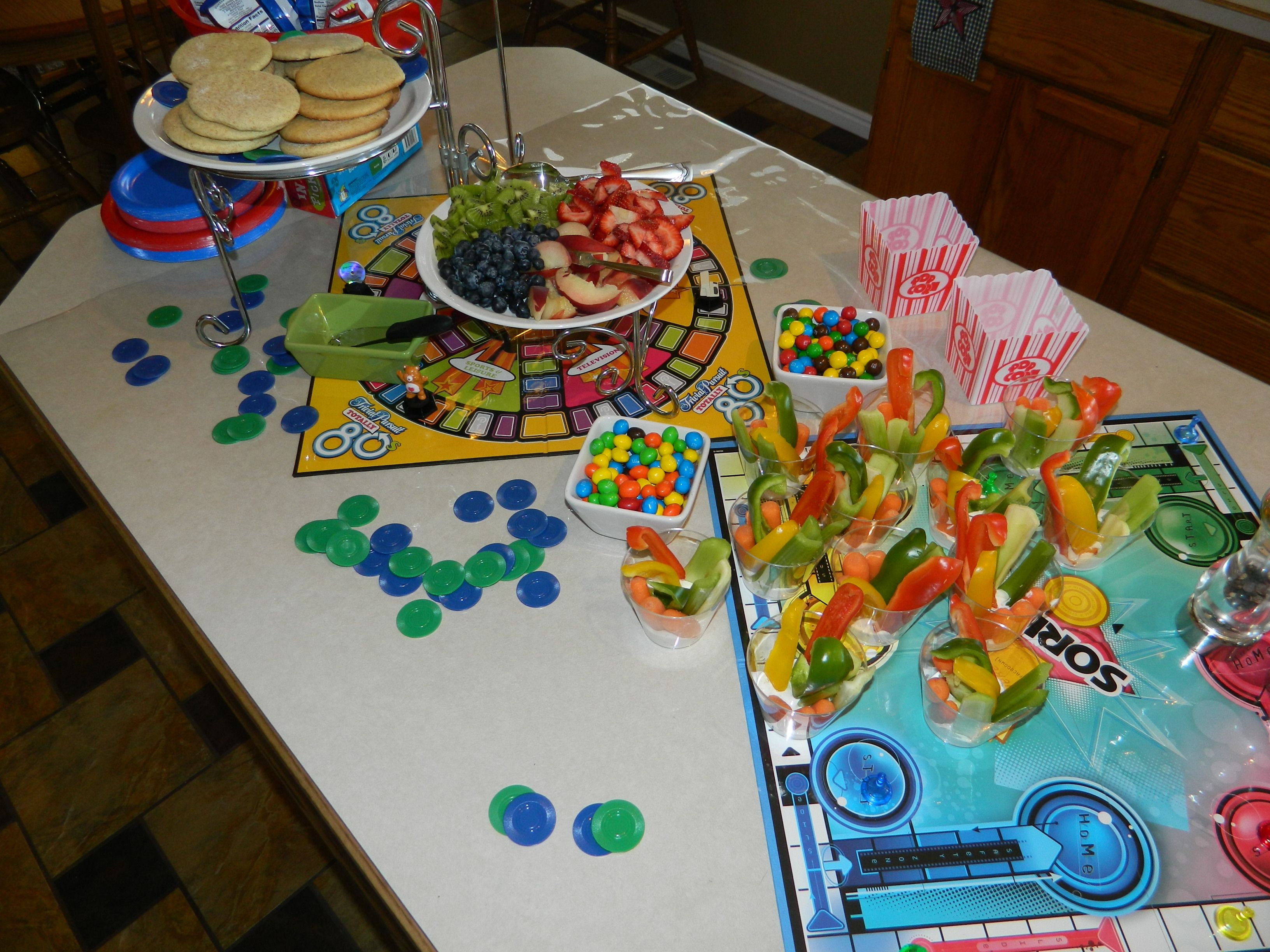 Game Night Glass Tables: Oh What Fun....Party Ideas