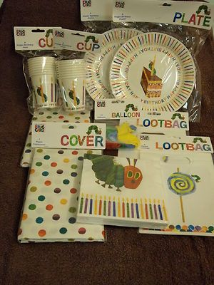 Very Hungry Caterpillar 82 Piece PARTY PACK/SET for 16 Plates Cups ...