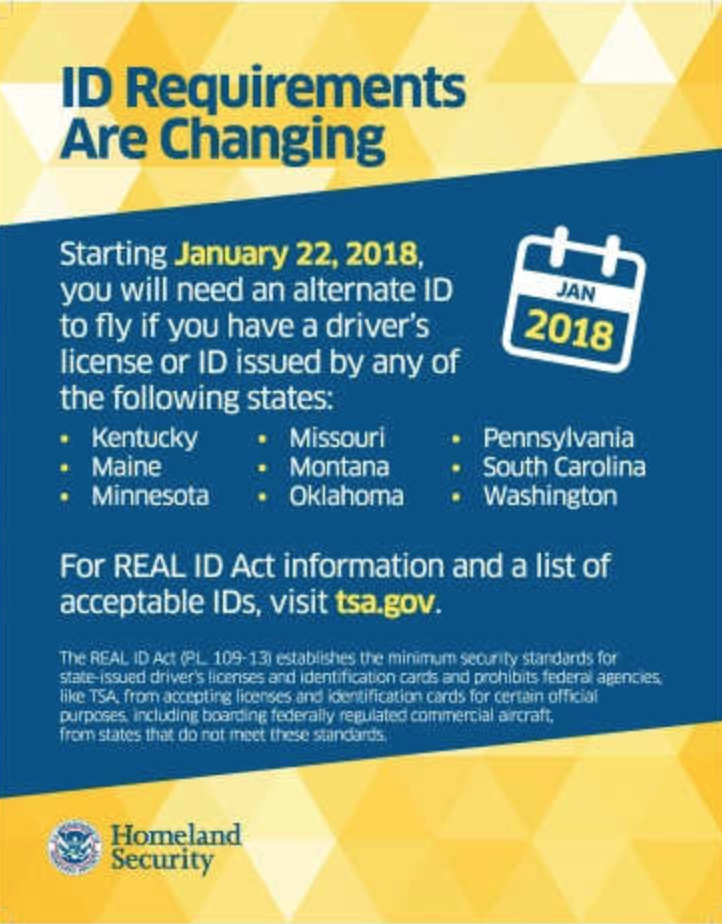 These 9 States To Require A Passport For Domestic Travel Real Id