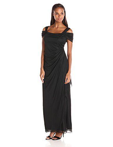 Alex Evenings Women's Long Mesh Cold Shoulder Dress  http://www.effyourbeautystandarts.com/alex-evenings-womens-long-mesh-cold-shoulder-dress/