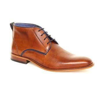 Jones Tan Frisco Boot With Blue Trim Ankle Boots Fashion Boots Dress Shoes Men