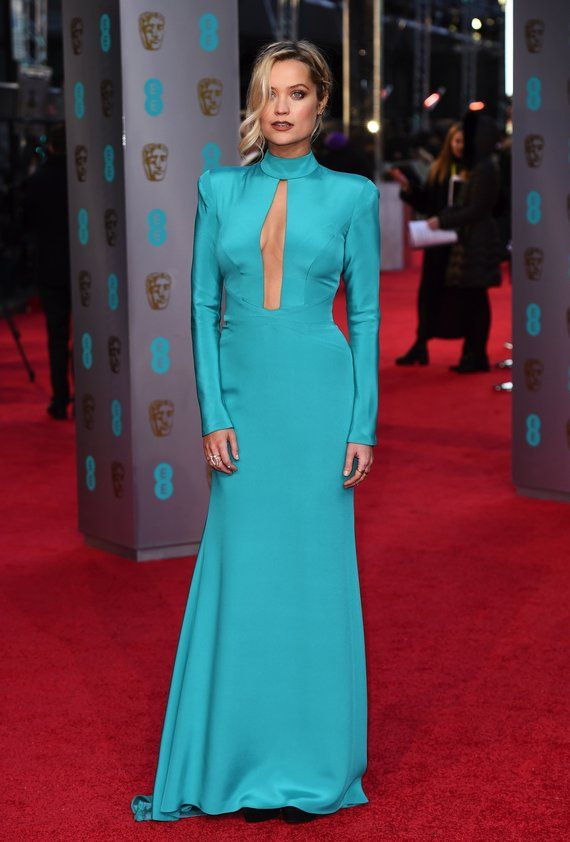 Laura Whitmore in Suzanne Neville Baftas red carpet 2016