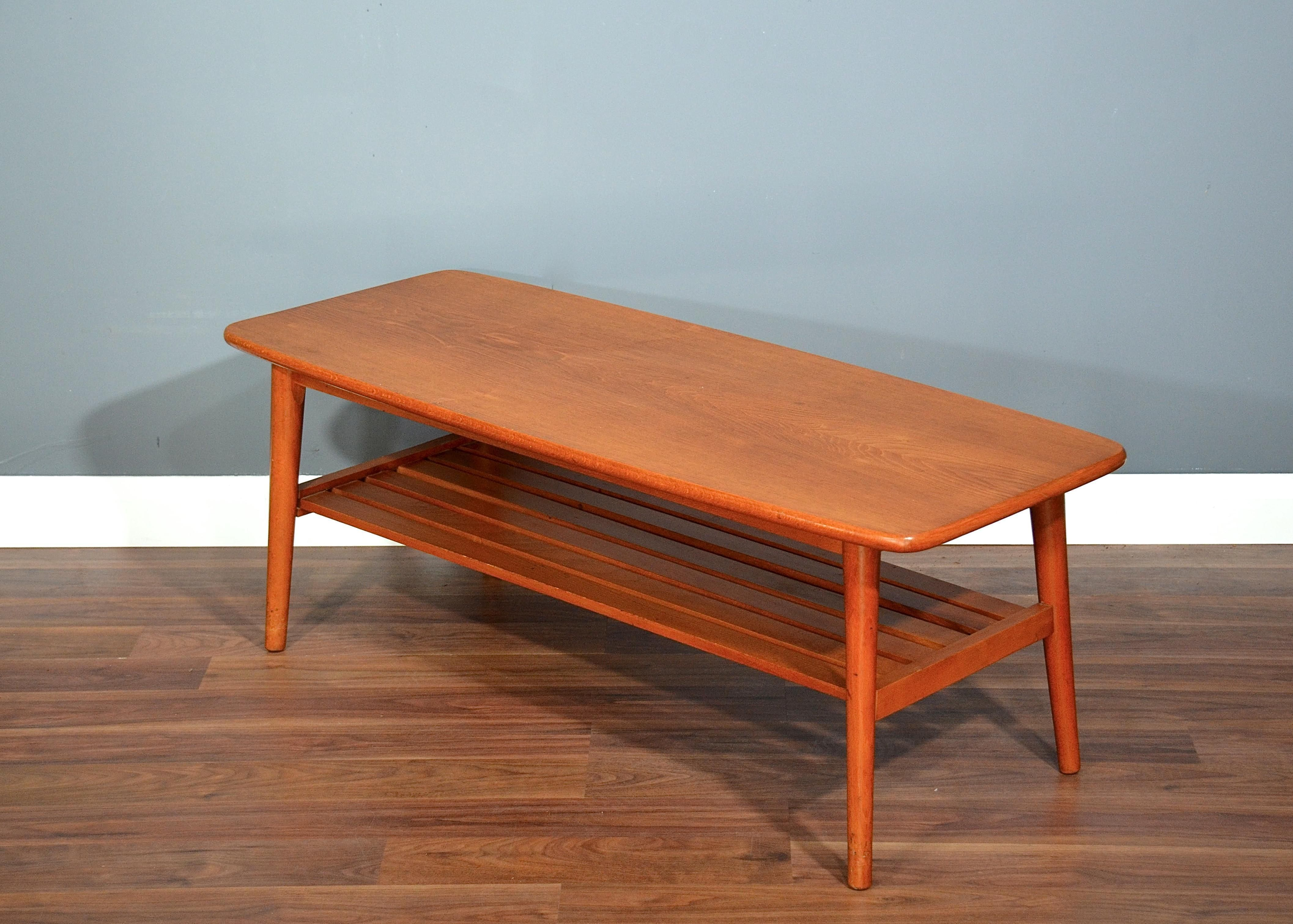 Vintage Danish Style Two Tier Teak Slatted Coffee Table Delivery Modern Mid Ce Mid Century Modern Coffee Table Mid Century Coffee Table Danish Coffee Table [ 3023 x 4228 Pixel ]