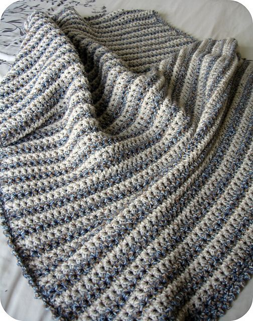 Dots and dashes crochet throw