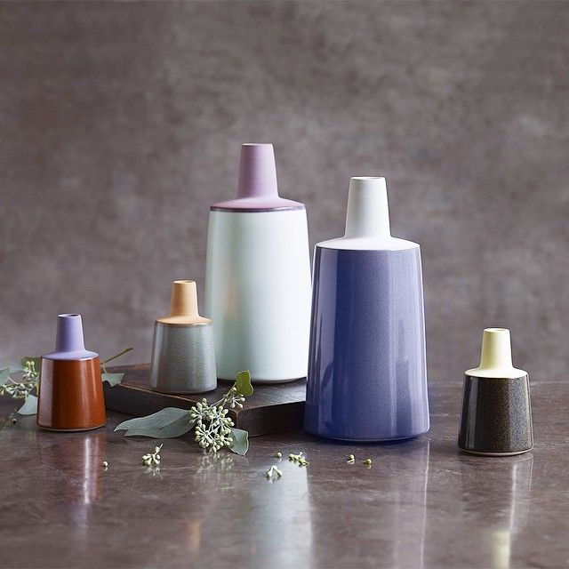 Have a lovely saturday evening TONE vases. Photo by @larsranek. #ceramics #keramik #handmade #håndlavet #vases #stillife #stilleben #stoneware #madeindenmark #danishdesign #loveclay www.tinamariecph.dk