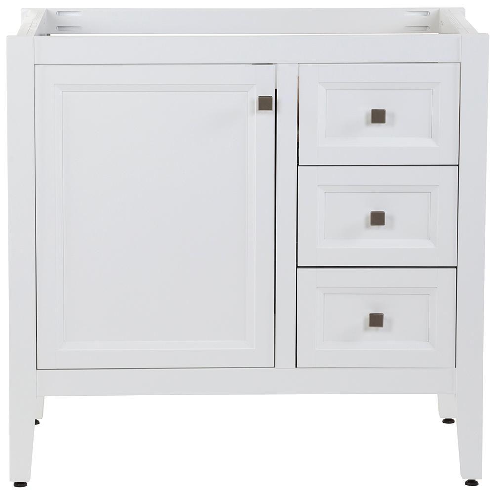 Moen Darcy 42 In W X 22 In D Bath Vanity Cabinet Only In White