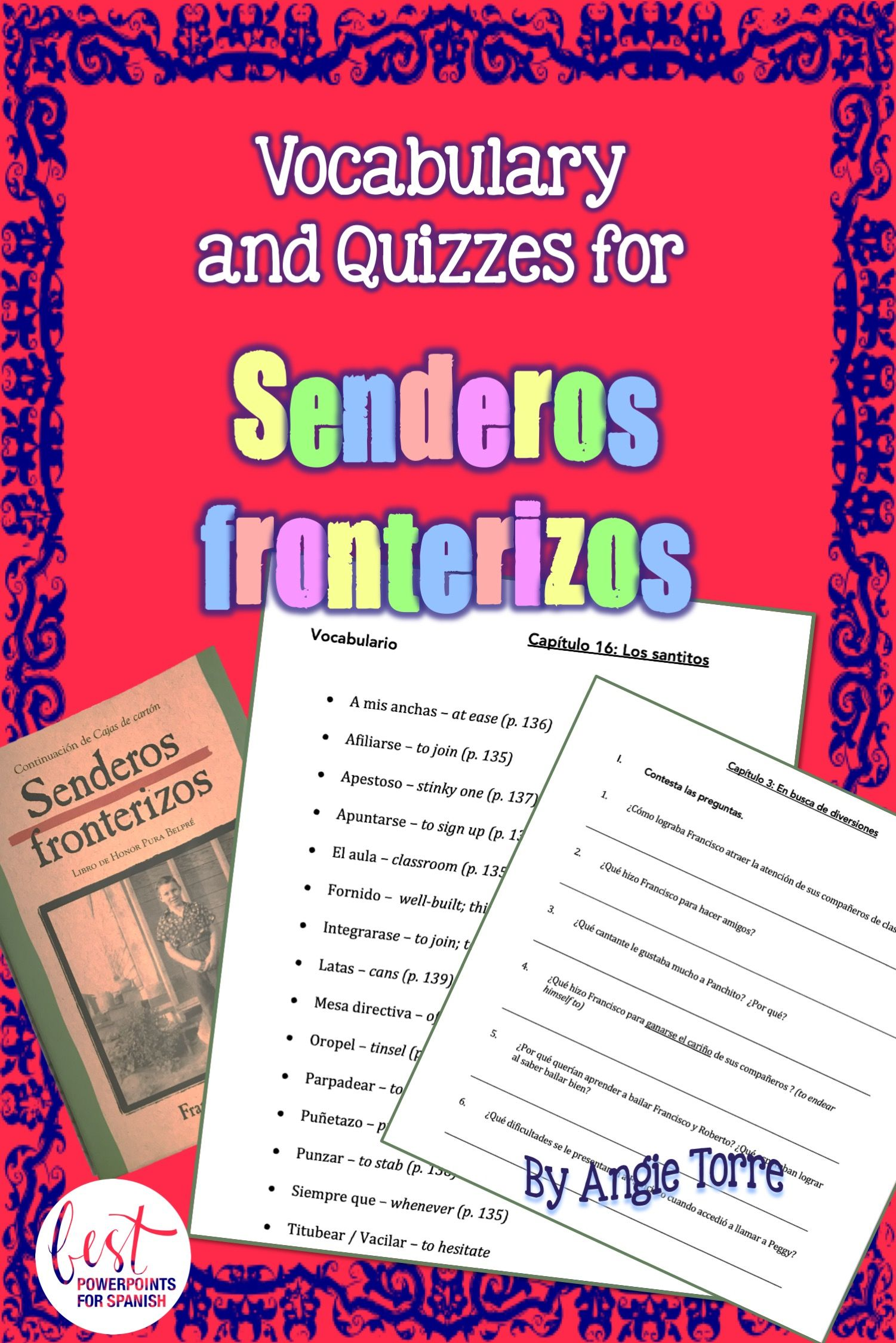 Senderos Fronterizos Vocabulary And Quizzes For Spanish Four Or Ap