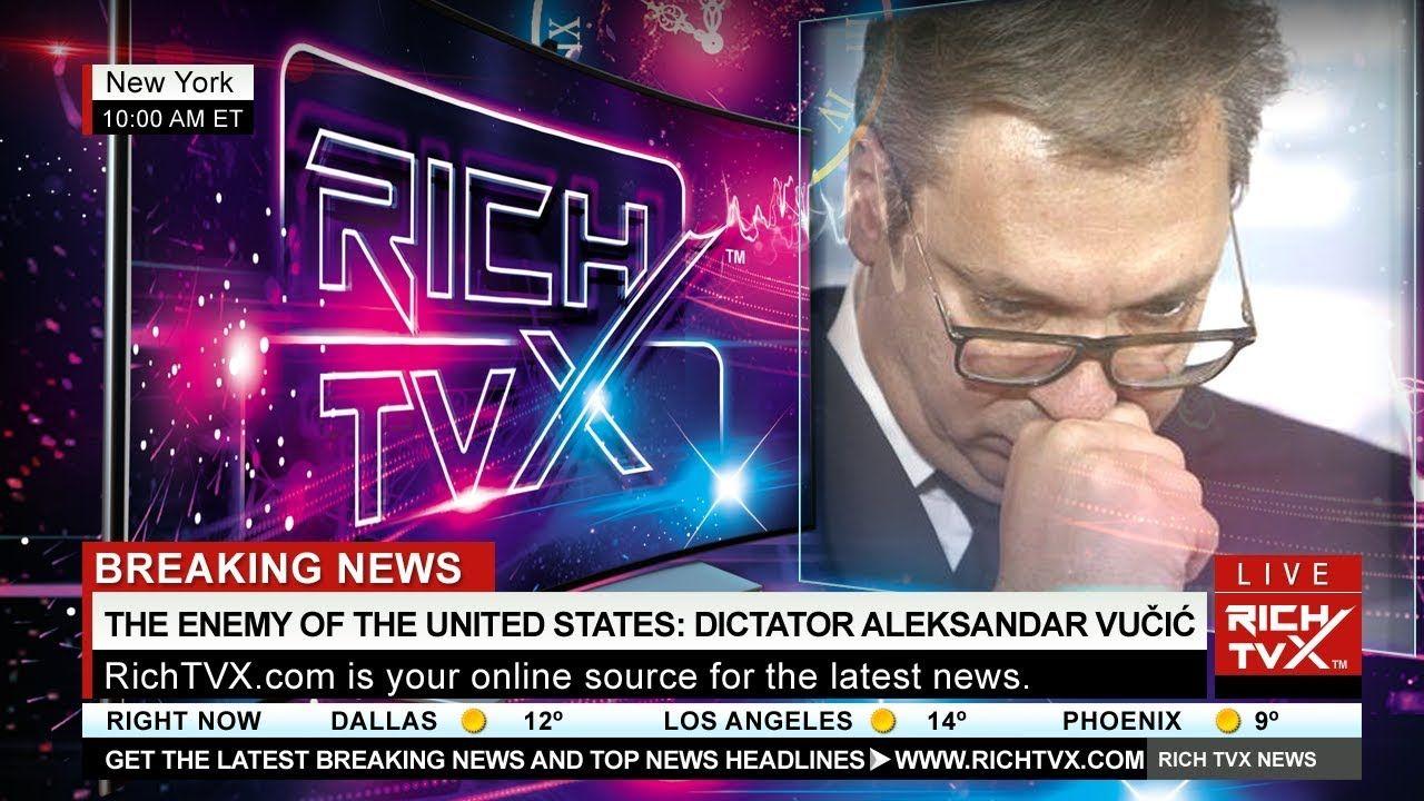 The Enemy Of The United States Dictator Aleksandar Vucic Visits Washington D C Https Www Richtvx Com Bringing In 2020 Dictator Visiting Washington Dc Washington Dc