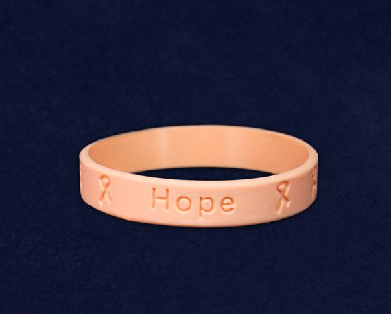 Peach Silicone Bracelet RE-SILB-20 by FundraisingForACause on Etsy