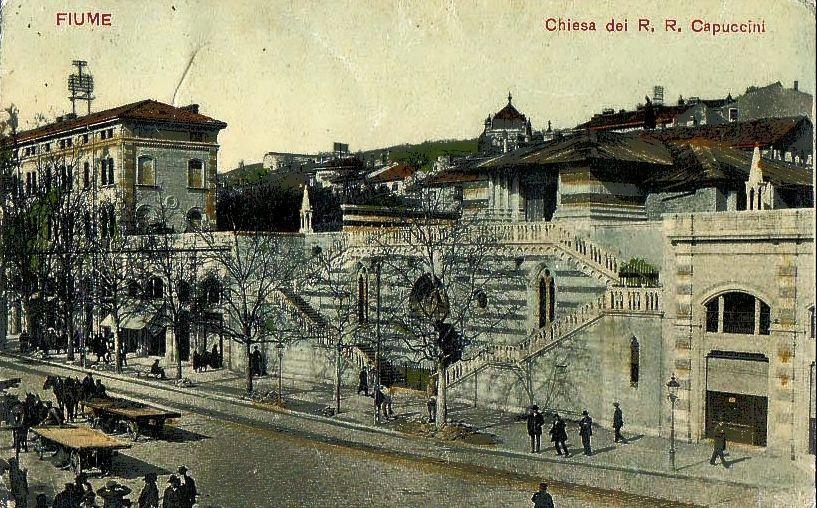 Rijeka - 1913. - Žabica - kapucinska crkva - gradnja