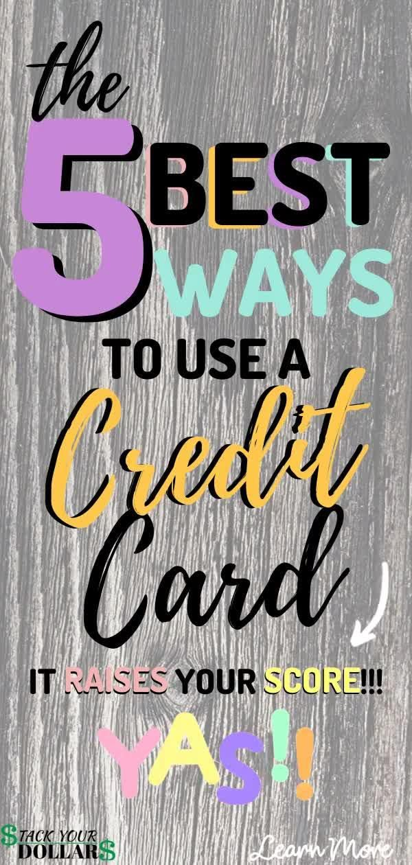 If you don't know how to properly use a credit card, you need to find out ASAP. Using a credit card properly will help you raise your credit score quickly. It will also save you money on interest rate, and help you build a solid credit history. You'll be able to qualify for personal loans, car loans and mortgages thanks to learning how to have a great credit score! #creditscore #creditcardtips #stackyourdollars #buildcredit #raisecreditscore #boostcredit