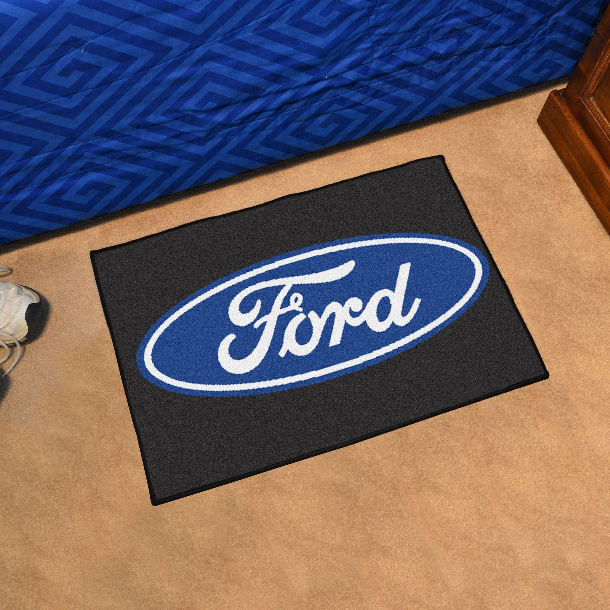 Ford Oval Tailgater Mat Rectangular Outdoor Area Rug Ford