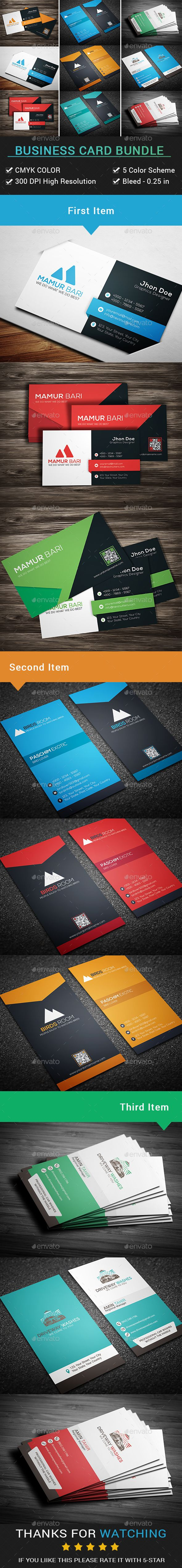 Business Card Bundle (3 in 1) | Business cards, Business and Print ...