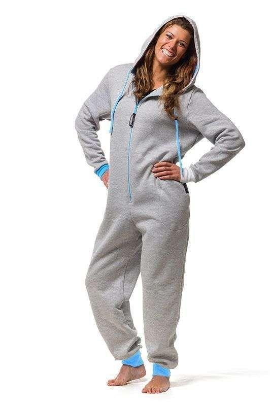 dac8200d6 Mono jumpsuit para dormir  Los mejores modelos - Mono pijama gris ...