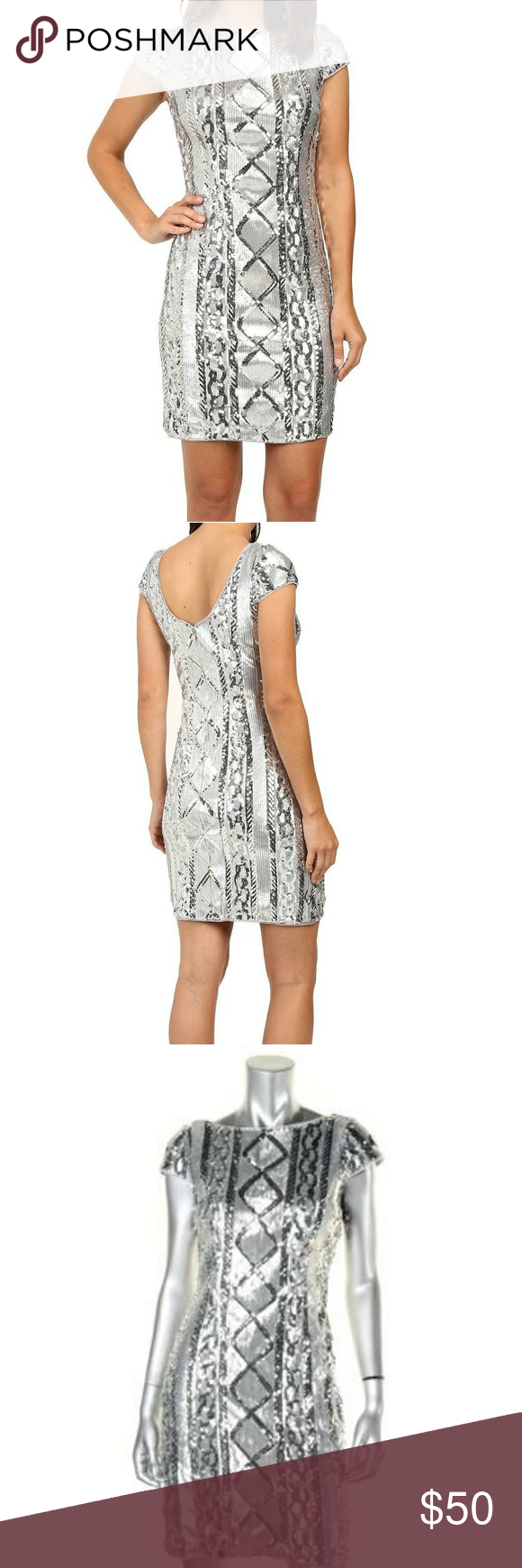 Adrianna papell sequin bodycon dress quartz sleeve collection guide
