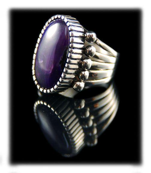 Native American Handmade Sugilite Silver Ring