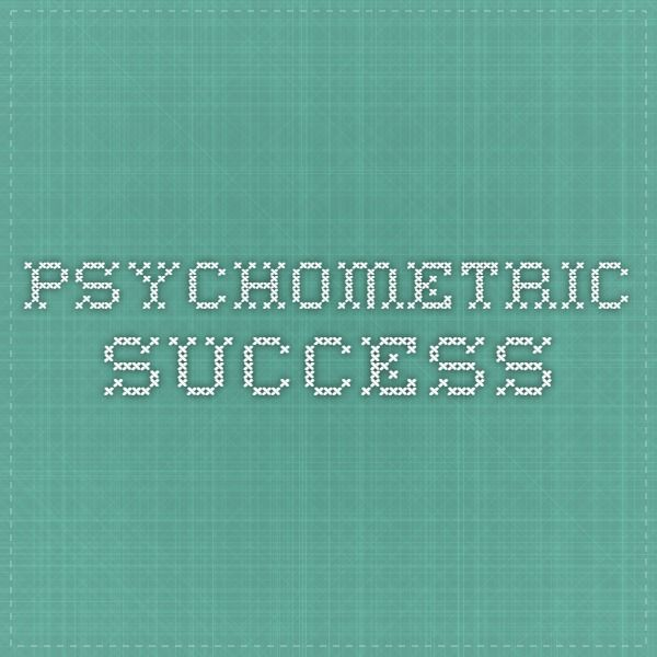 Psychometric Success - Free Practice Psychometric Testing and