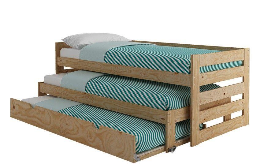 Cama compacta de 3 pisos cama nido para dormitorio for Muebles lufe cama nido