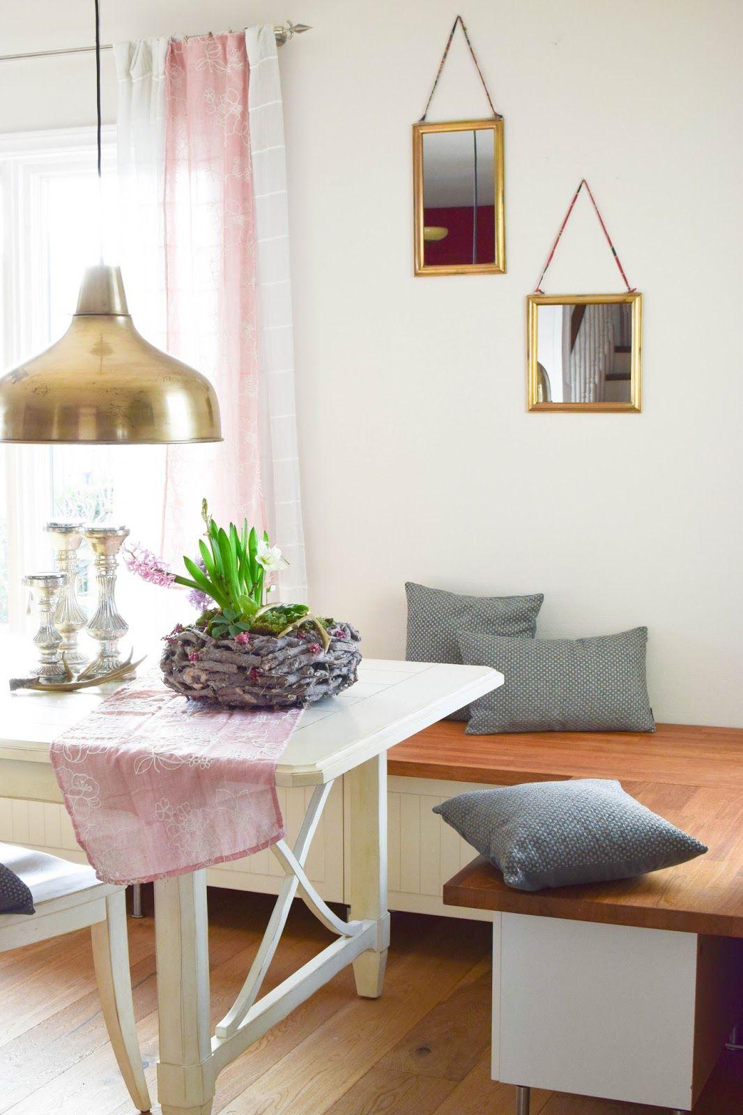 vorhang auf fr hling im esszimmer in 2019 mein blog eclectic hamilton dekoideen diy und. Black Bedroom Furniture Sets. Home Design Ideas