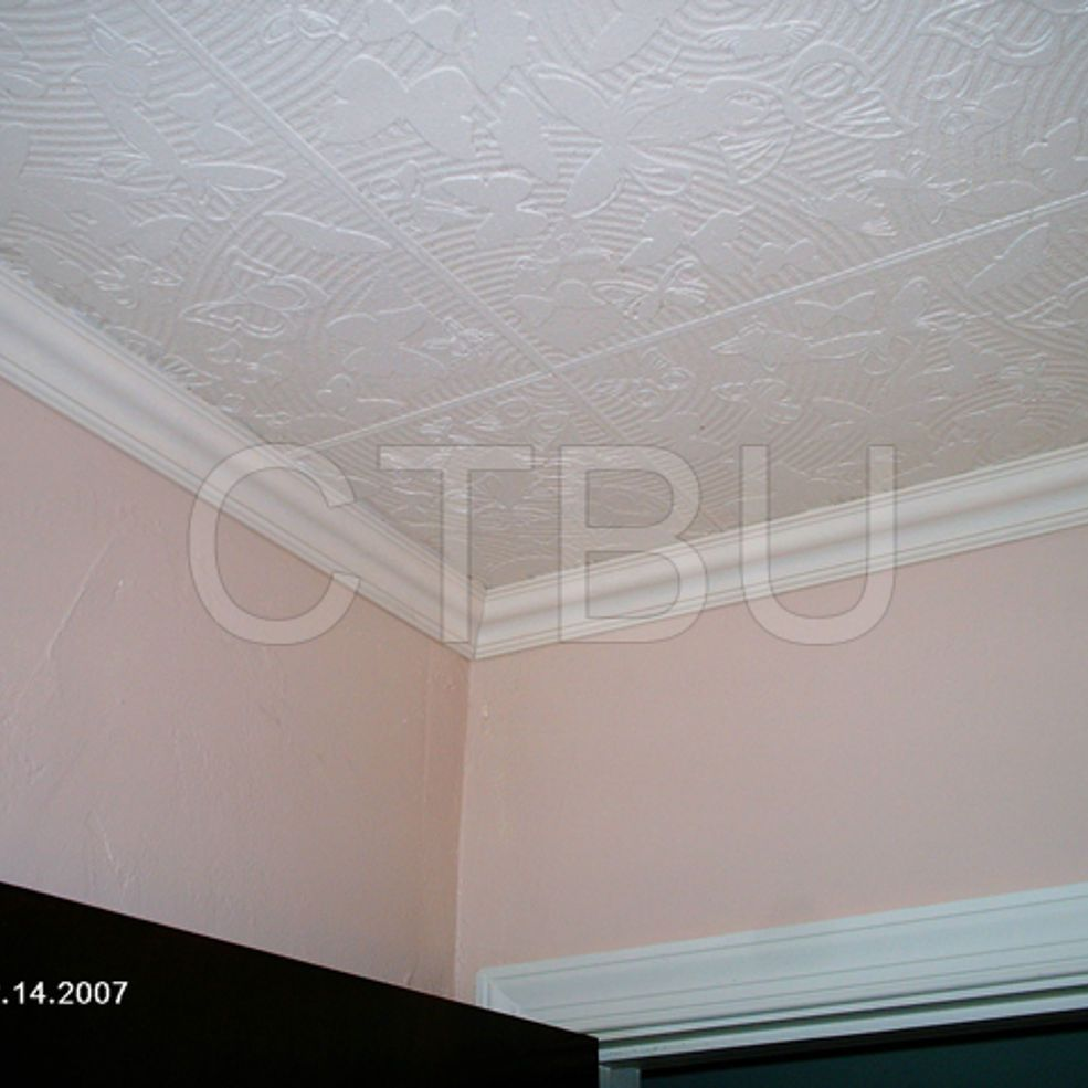 Diy styrofoam ceiling tile over water stained popcorn ceiling replacing popcorn ceiling with syrafoam tiles to update that old popcorn ceiling dailygadgetfo Choice Image