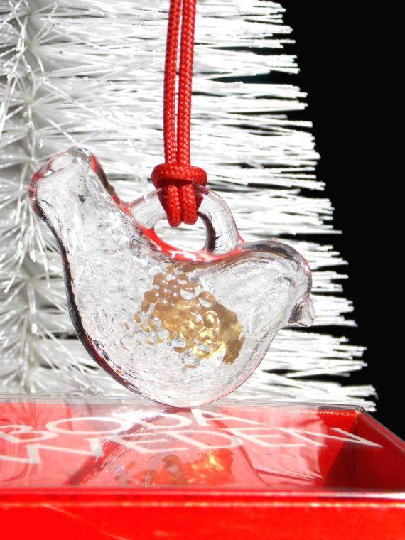 Kosta Boda Glass Ornament Sweden Bird Christmas by MidCenturyFLA - Kosta Boda Glass Ornament Sweden Bird Christmas By MidCenturyFLA