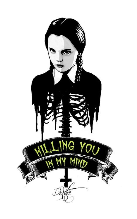 Wednesday Addams Print A3,The Addams Family Art,motivational quote,celebrity art
