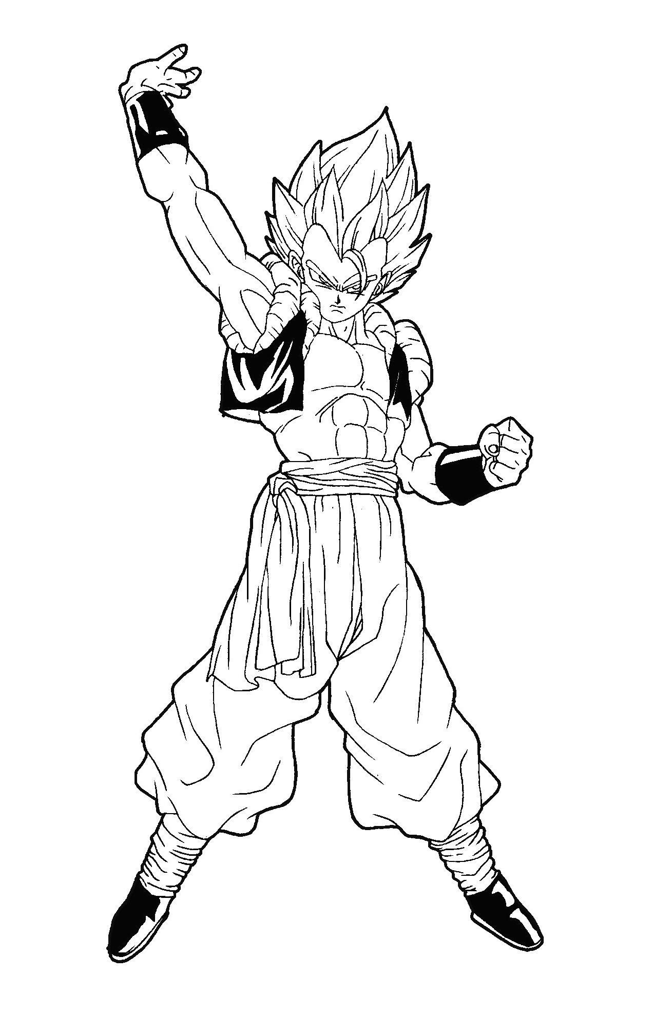 Dessin Facile Dragon Ball Z : dessin, facile, dragon, Meilleur, Gogeta, Coloriage, Photos, Dragon, Dragon,