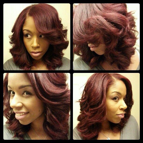 Roller set, silk wrap, #fhi flat iron curls, #naturalhair ...