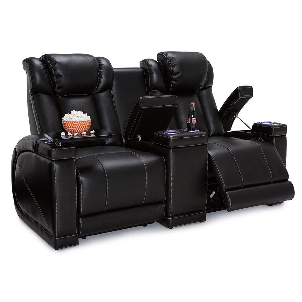 area seatcraft black loveseat anthem headrest home carousel sofa theater