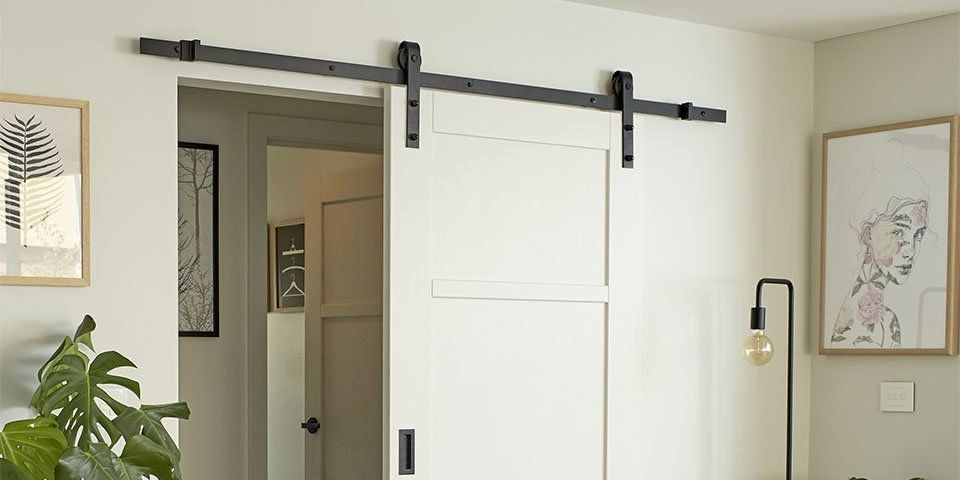 Barndoor Hardware Unearth Barn Door Gliding Door Combined With Flat Track Component Kits Which H Barn Doors Sliding Wood Doors Interior French Doors Interior