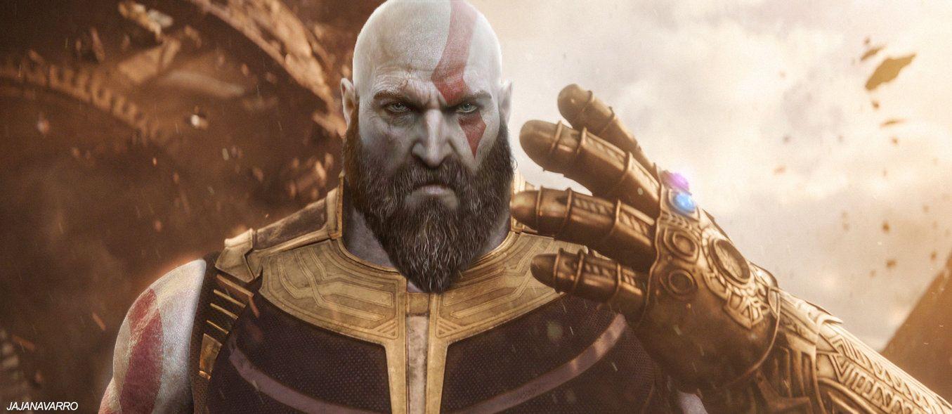 God of infinity war thanos x kratos by https