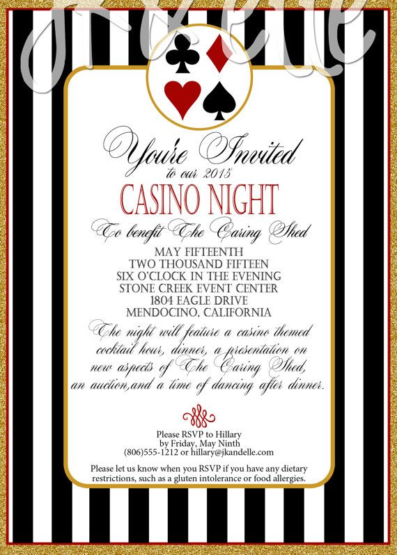 Casino Night Invitation by JKandElle on Etsy