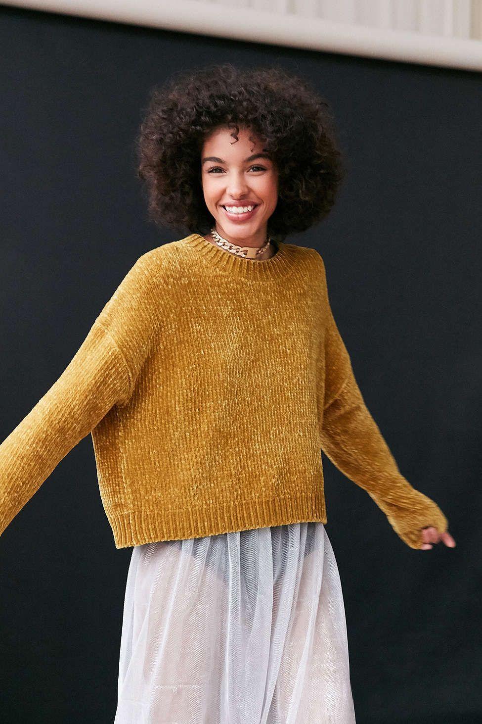 Silence   Noise Velvet Chenille Pullover Sweater - Urban ...
