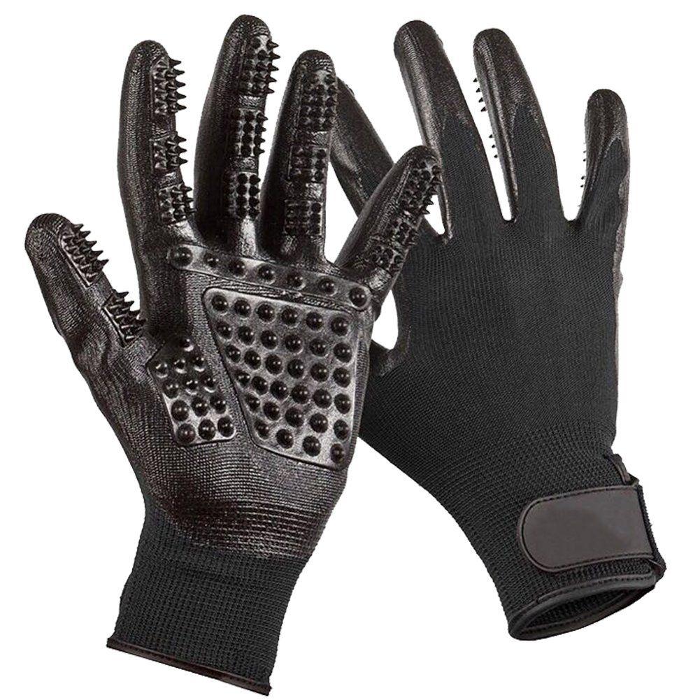 Enhanced Five Finger Pet Grooming Glove, Remove Fur