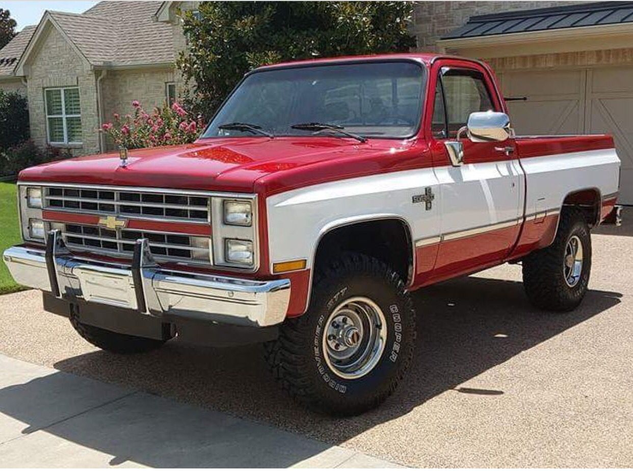 hight resolution of  81 87 chevrolet k10 4x4 short box gotta have the bumper guards
