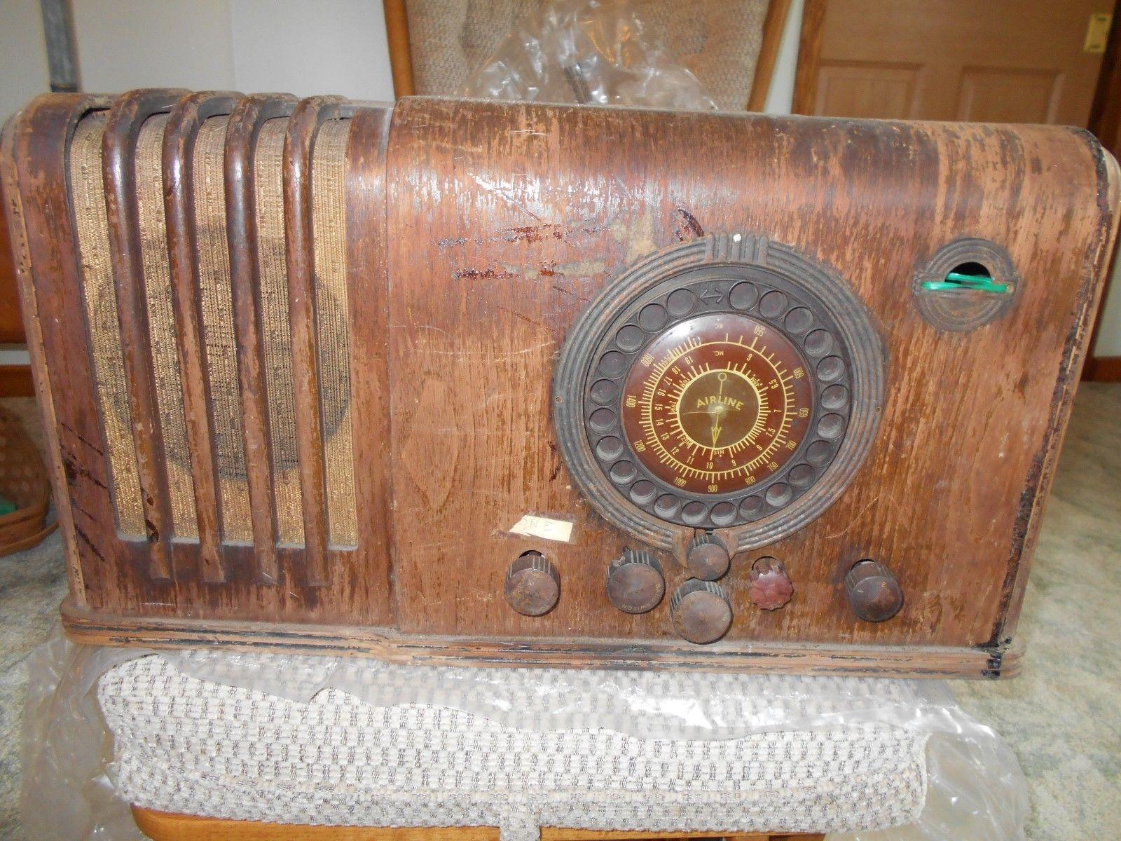 Vintage Wards Airline Radio 7 Tube Standard Short Wave Mod 62 397 Parts Ebay Retro Radios Radio Vintage