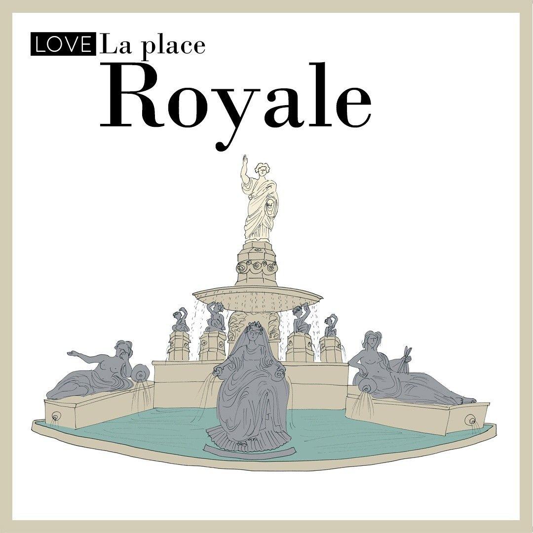 Color art nantes - La Place Royale In Nantes I Illustrated It For Wanderworldmaps Esterytelling
