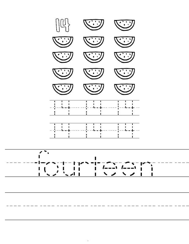 number 14 worksheet to trace | K5 Worksheets | Kids Worksheets ...