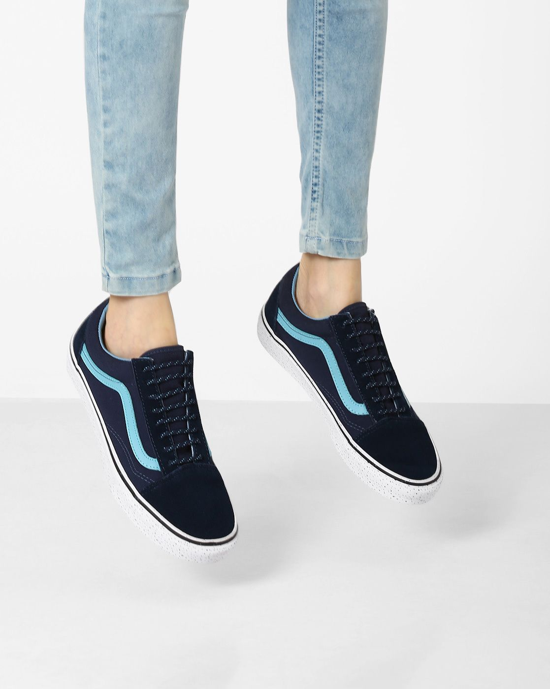 Buy Vans Black The Gum Old Skool Panelled Casual Shoes online