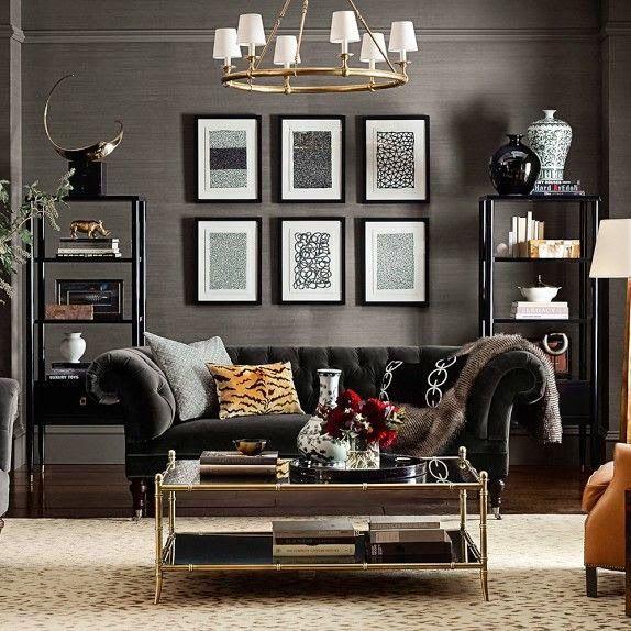Black Sofa Anyone Yes Please Masculine Living Rooms Couches Living Room Trendy Living Rooms