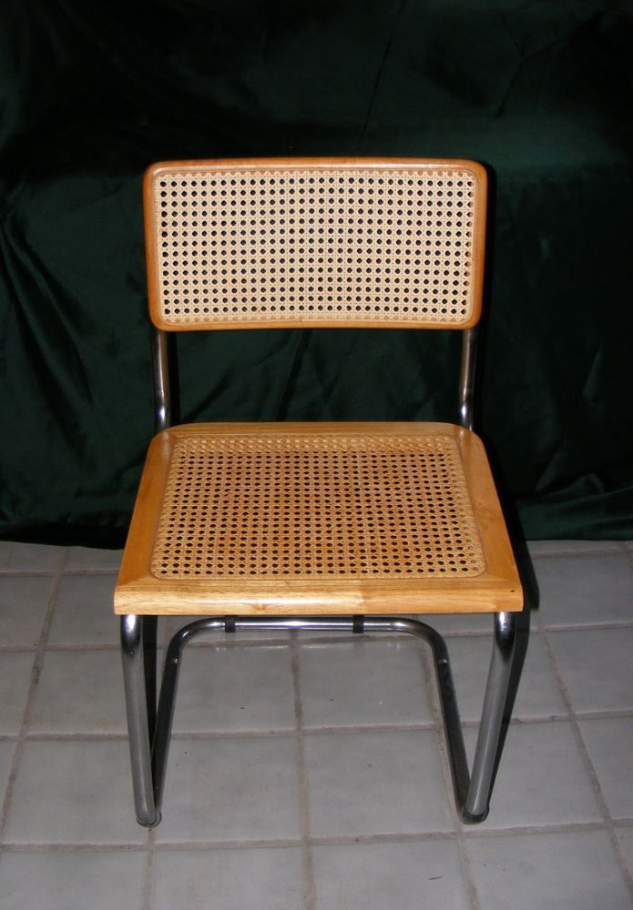 Breuer Dining Chair Vintage Wooden Woven Cane Wicker
