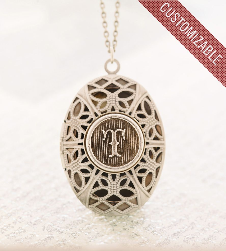 jewelry le necklace locket sora chien gold brass necklaces monogram oval market rakuten global louis custom images lockets