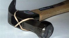 Wrap A Hammer With A Rubber Band To Keep It From Destroying Your Walls Household Hacks Cleaning Hacks Helpful Hints