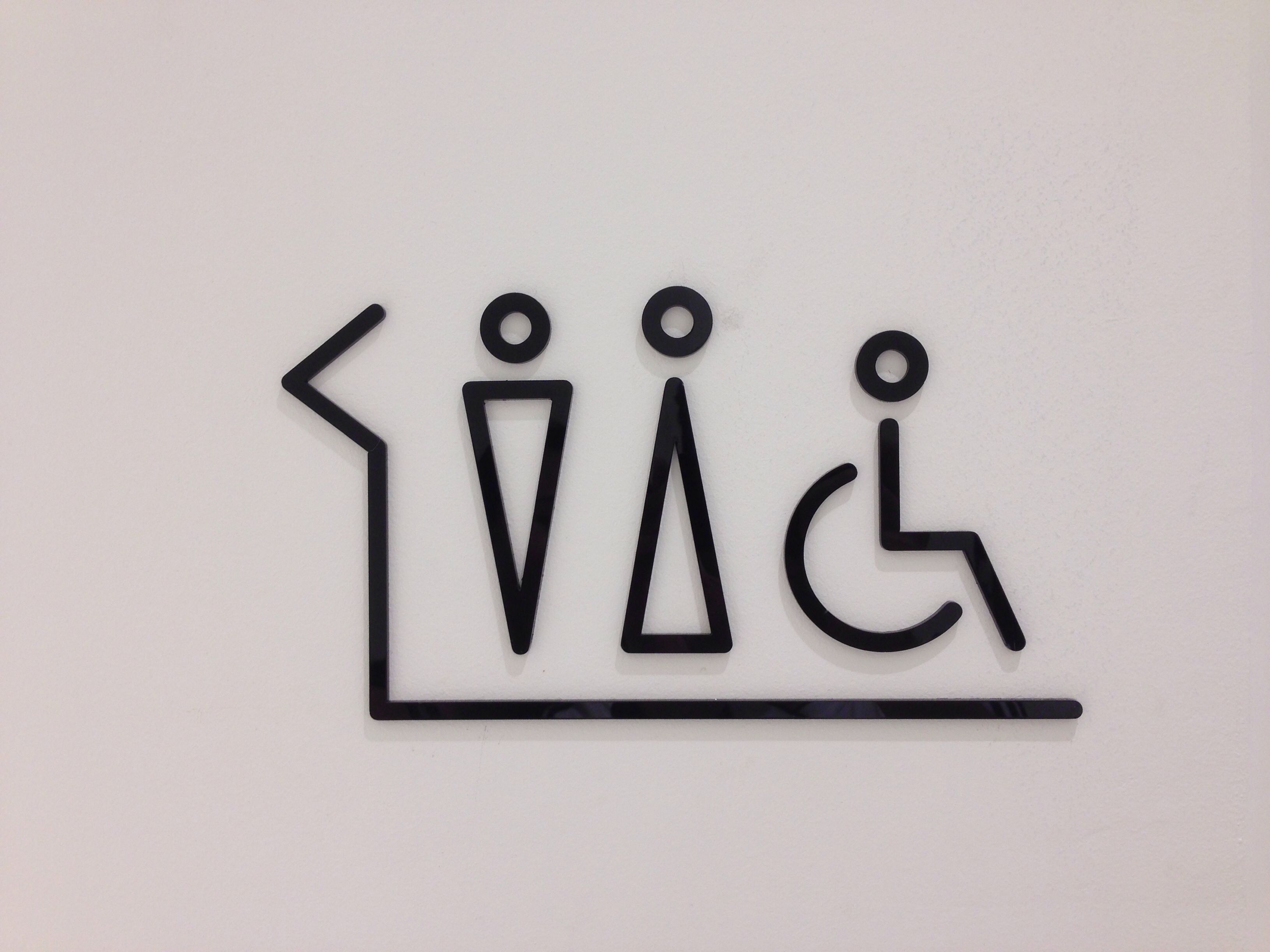 Girls bathroom sign outline - Toilet Sign