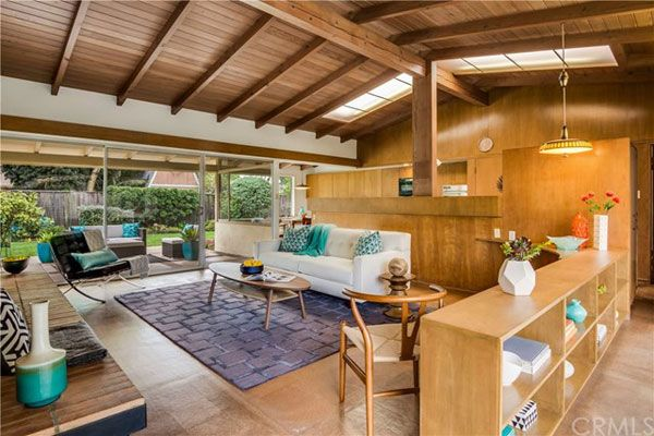 first time on the market for the 1950s paul tay designed strum residence in long - Beach House Design 1950s