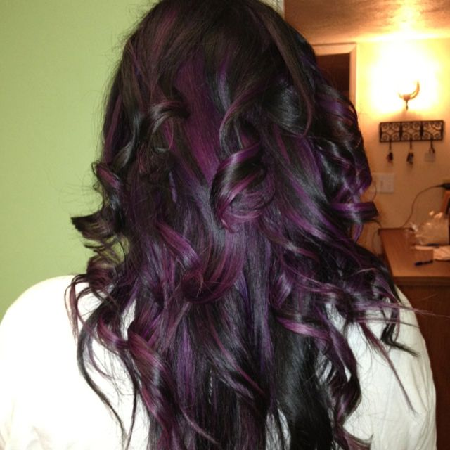 My Black With Purple Highlights Loved Loved Loved It Me