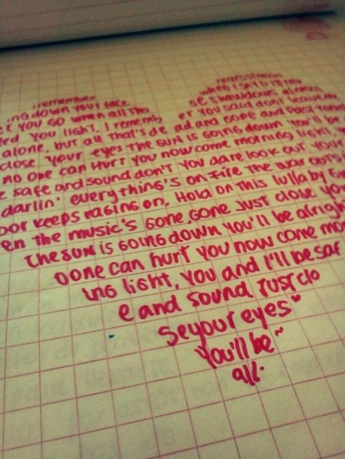 this would be a cute way to write a letter or something maybe | boy
