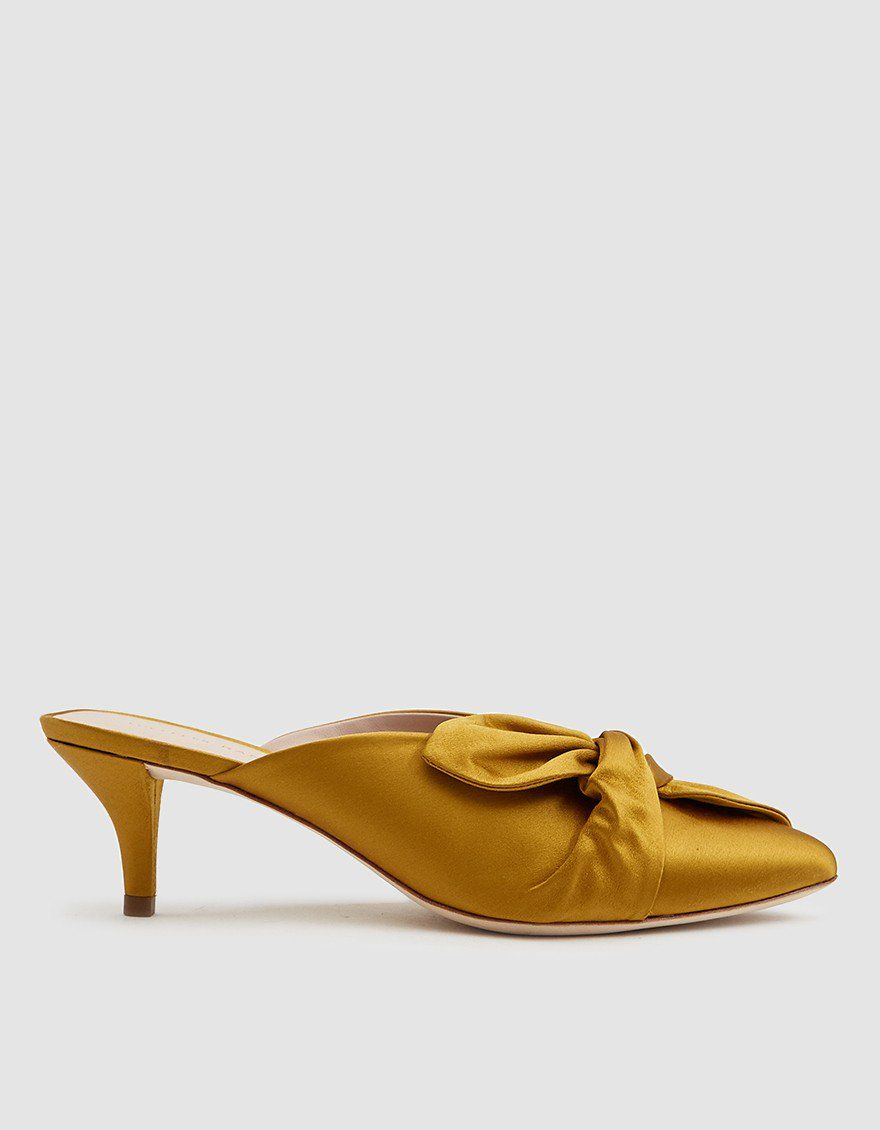Loeffler Randall Jade Kitten Heel In Marigold Kitten Heels Womens Designer Boots Heels