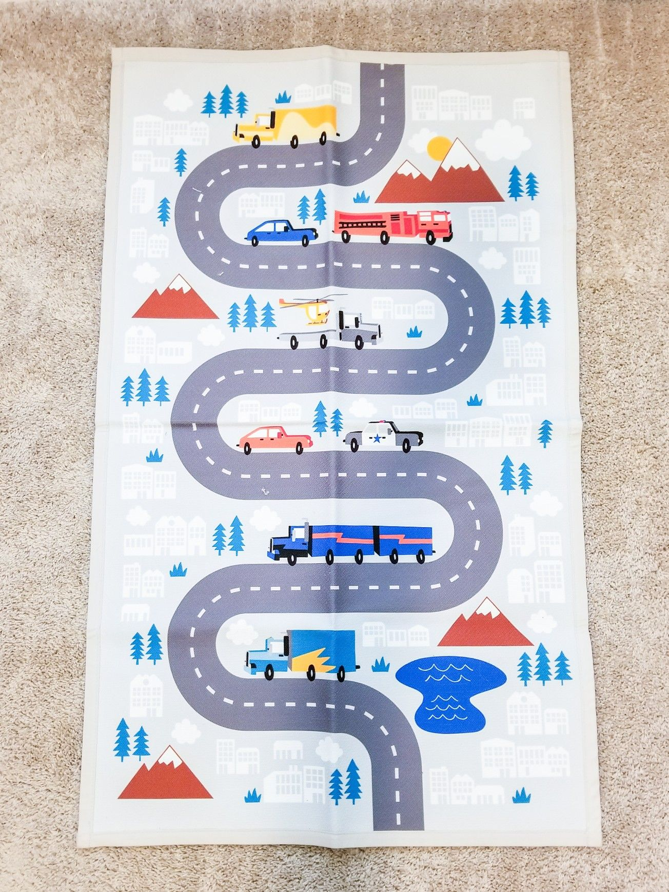 Mini Mile Activity Rug Pillowfort In 2020 Rugs Truck Theme Pillow Fort